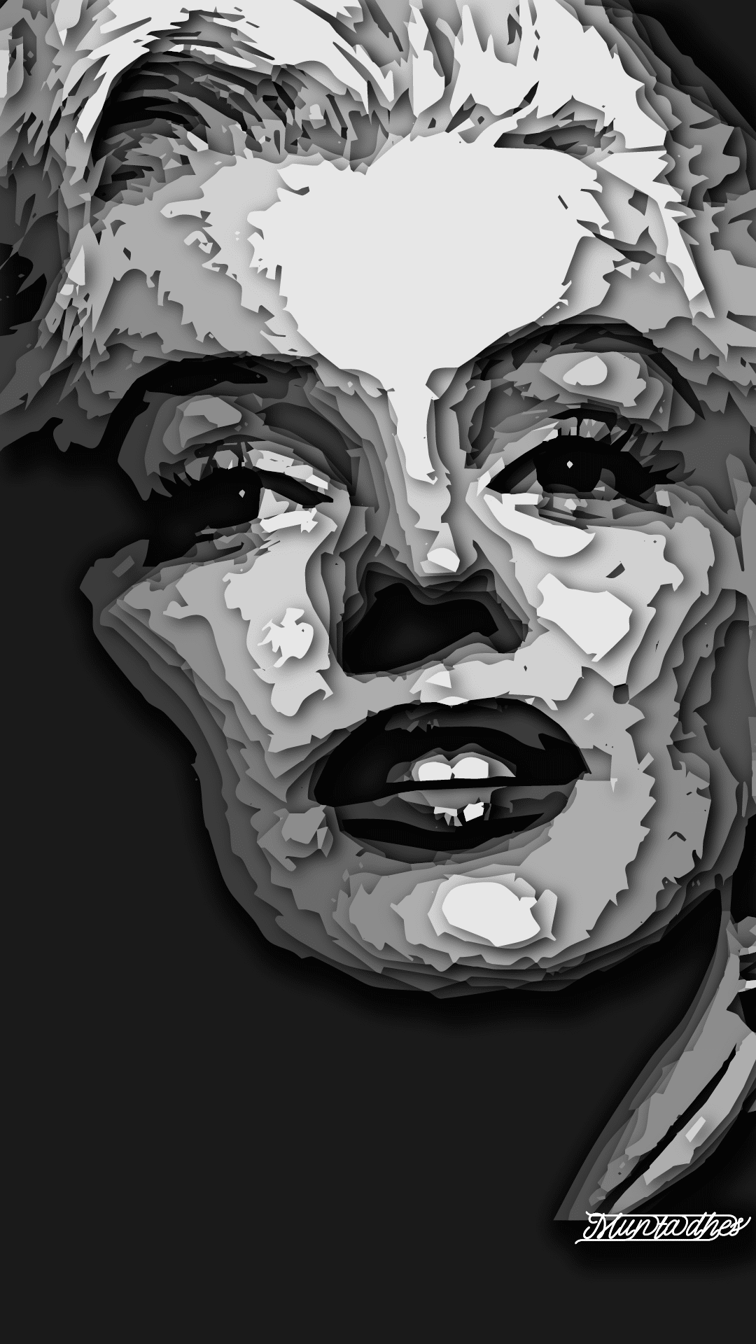 Marilyn Monroe layers Artwork