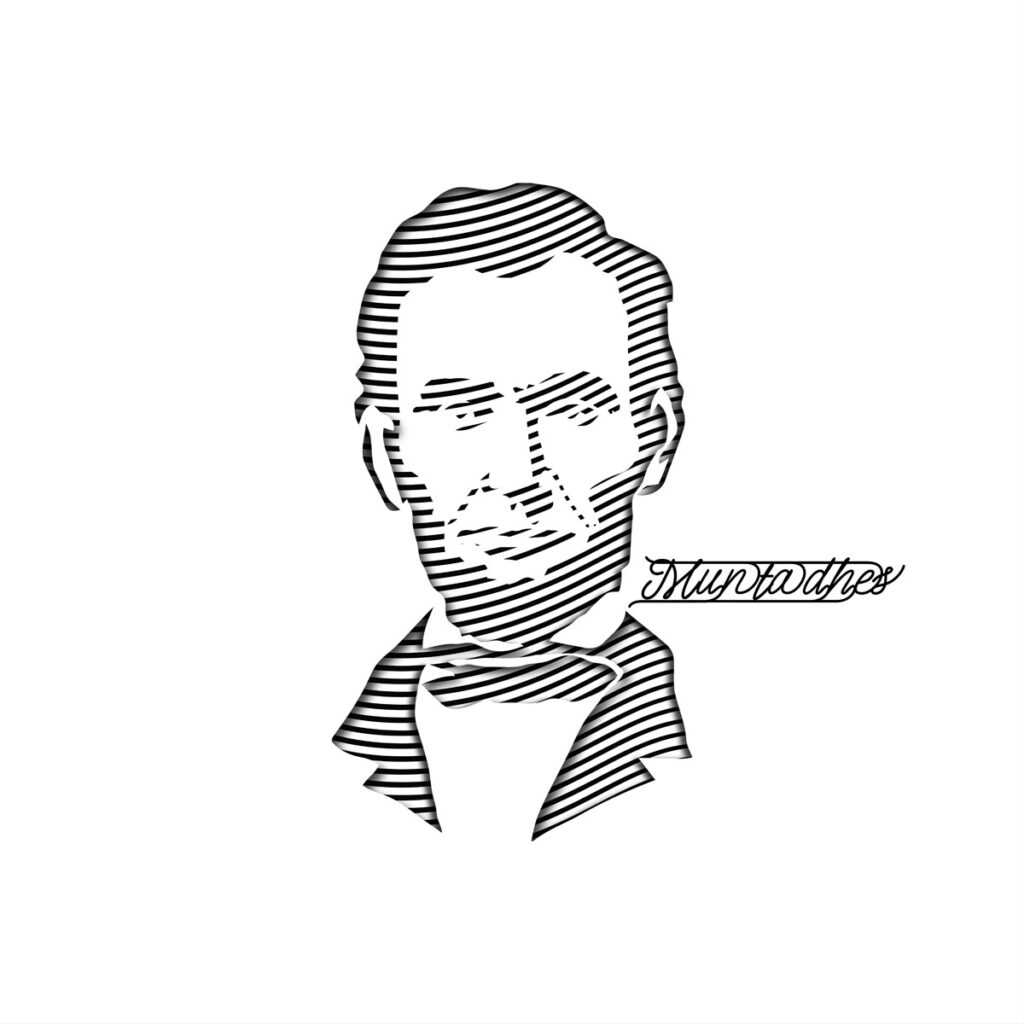 Abraham Lincoln line art Artwork