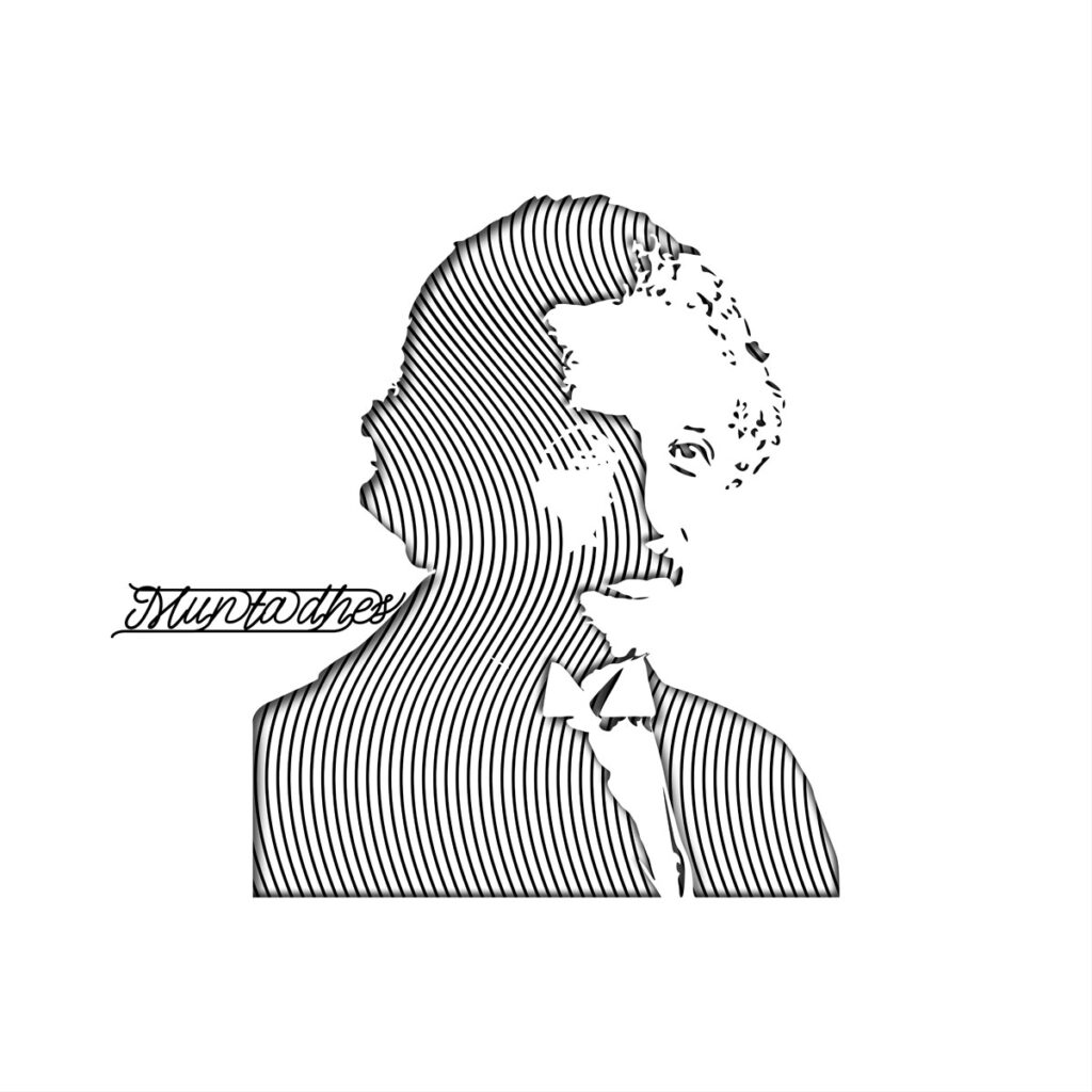 Albert Einstein line Art Artwork