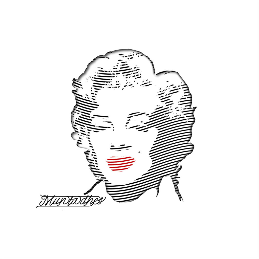 Marilyn Monroe line art Artwork